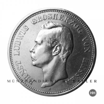 5 Reichsmark Hessen J.73 / 1898 ss.