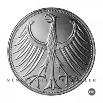 5 DM BRD Silberadler J.387 / 1951 - 1974