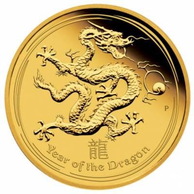 10 Oz. Gold Australien Drache Lunar II. 2012