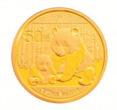 1/10 Unze Gold China 50 Yuan Panda 2012