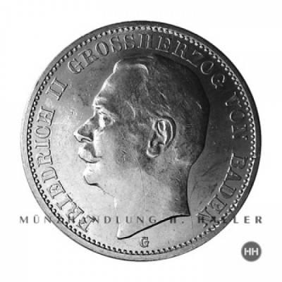 3 Reichsmark Baden J.39