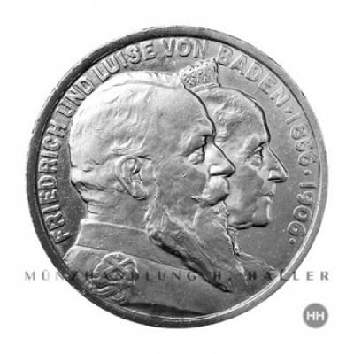 5 Reichsmark Baden J.35 / 1906 ss./vz.