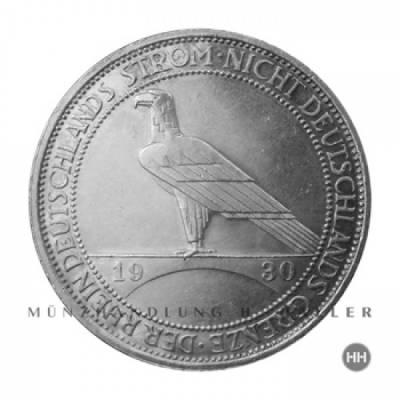 3 Reichsmark Rheinstrom J.345 1930A ss./vz.