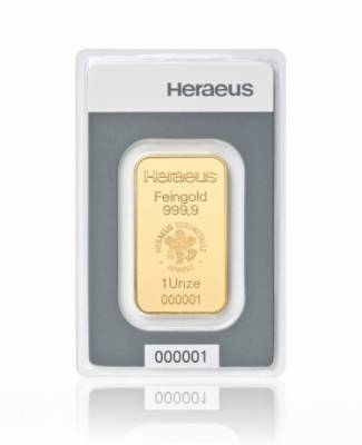 31,1 Gramm Goldbarren Heraeus LBMA