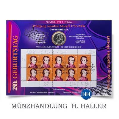 10 ¤ Numisblatt 01/2006 250 Geb. Mozart 1756-2006