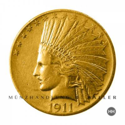 10 $ USA Gold Indian Head 1913 vz.