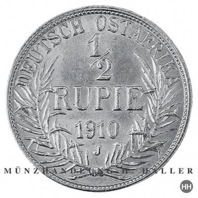 1/2 Rupie Deutsch - Ostafrika J.721  1910 ss./vz.