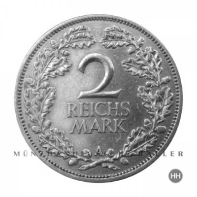 2 Reichsmark Kursmünze J.320 1926A ss./vz.