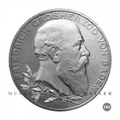 5 Reichsmark Baden J.31 / 1902 ss./vz.