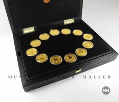 100 $ Australien Lunar I komplett 12 x 1 Oz. Gold 1996 - 2007