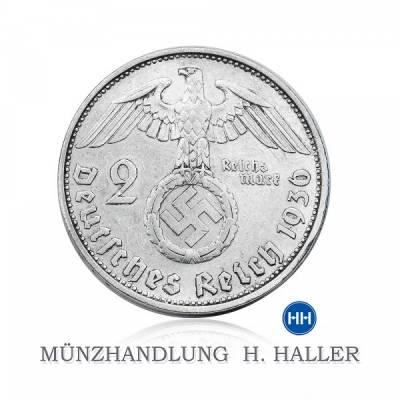 2 RM Hindenburg mit HK J. 366 1936 G sehr schön/vorzüglich