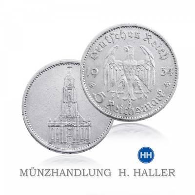 5 RM Garnisonkirche J. 357 1935 G vorzüglich