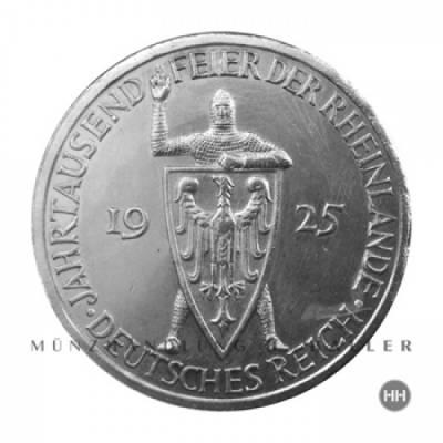3 Reichsmark Rheinlande J.321 1925G vz.