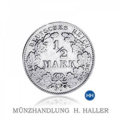 J.16 1/2 Mark 1919 F sehr schön