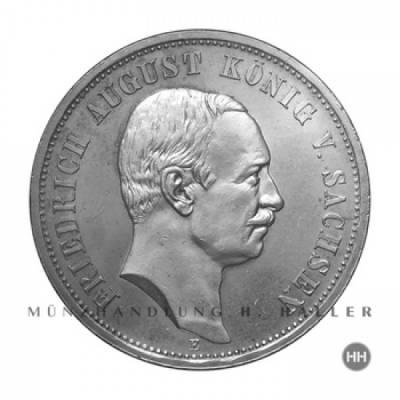 3 Reichsmark Sachsen J.135 1908 vz.