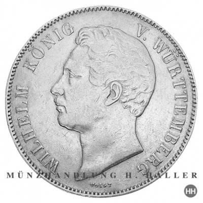 Thun 436 Doppeltaler 1840 Wilhelm König v. Württemberg vz.