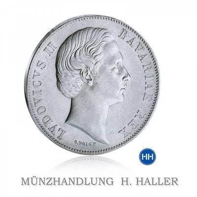 Thun 105 Vereinstaler 1871 Ludovicus II. Bavariae Rex vz.
