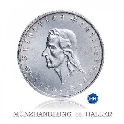 5 RM Schiller J. 359 1934F vorzüglich