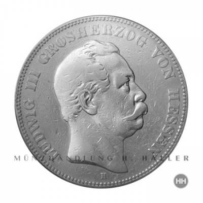 5 Reichsmark Hessen J.67 1876 ss.