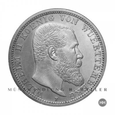 2 Reichsmark Württemberg J.174 1907 vz.+