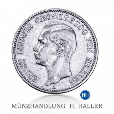 2 Reichsmark Hessen J.72 1895 sehr schön+