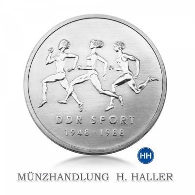 10 Mark DDR 40 Jahre DDR Sport 1988 A vz./stgl.