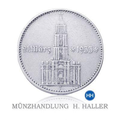 5 RM Garnisonkirche mit Datum J. 356 1934 E ss./vz.