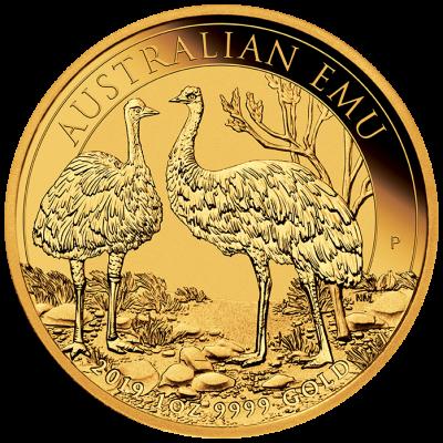 1 Unze Goldmünze Australien Emu 2019 Auflage 5000 Stk. RR !!