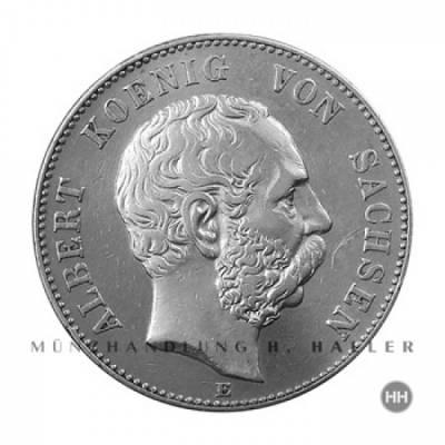 2 Reichsmark Sachsen J.124 / 1902 ss.+