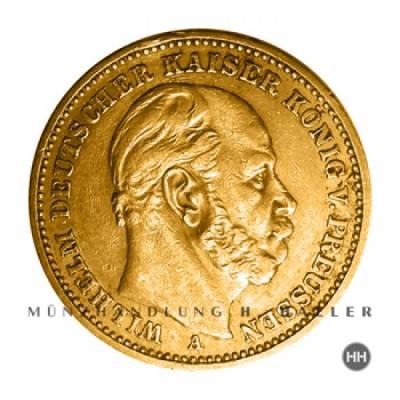 20 Reichsmark Gold Preussen J.246 1881 A vz./stgl.