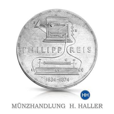 5 Mark DDR 100. Todestag Philipp von Reis 1974 A vorzüglich