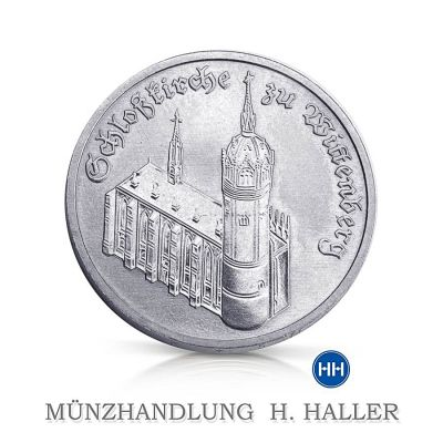 5 Mark DDR Schloßkirche zu Wittenberg 1983 A vz./stgl.