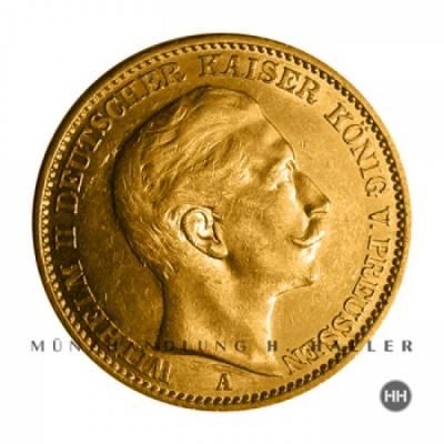 20 Reichsmark Gold Preussen J.252 1910 fast vz.