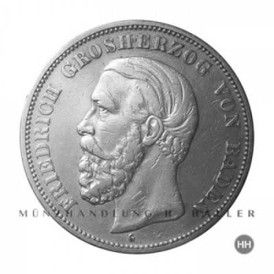 5 Reichsmark Baden J.29 / 1898 ss./vz.