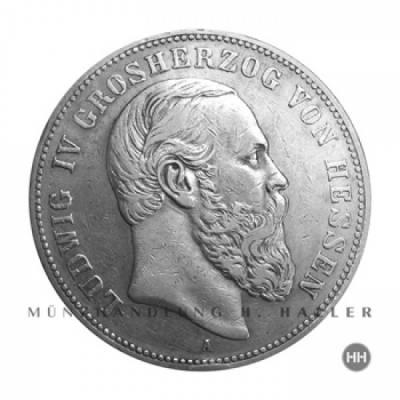 5 Reichsmark Hessen J.71 / 1891 ss.+