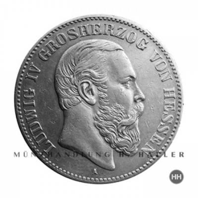 2 Reichsmark Hessen J.70 1891 f.vz.