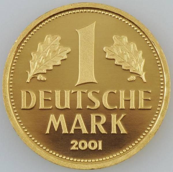 1 dm gold brd 2001 j hamburg sammlerm nzen und. Black Bedroom Furniture Sets. Home Design Ideas