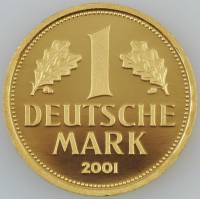 1 DM Gold BRD 2001