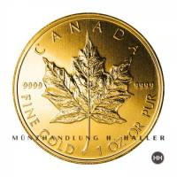 1 Oz. Gold 50 $ Canada Maple Leaf Div